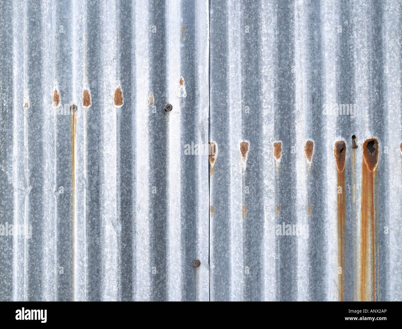 Corrugated sheet - Stock Image