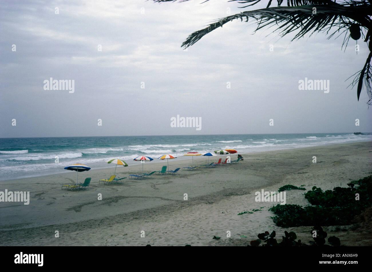 rainy day at beach playa el agua island of margarita venezuela - Stock Image