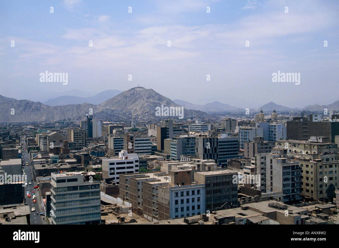 city of lima suburb peru - Stock Image
