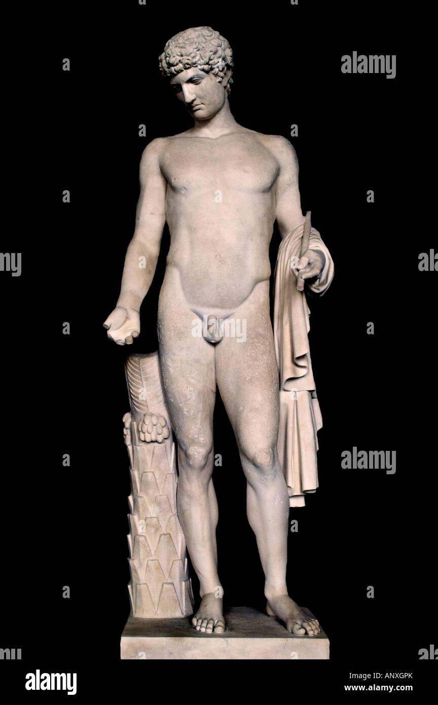 Antinous Rome Roman Italy Italian Greek greece Museum archaeology history civilization - Stock Image