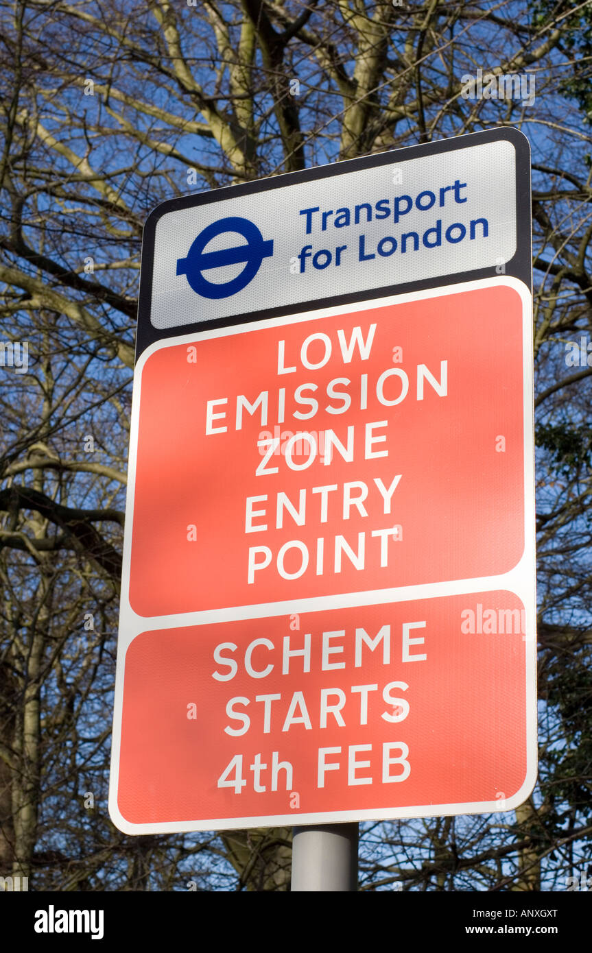 Low Emission Zone -2 - Stock Image