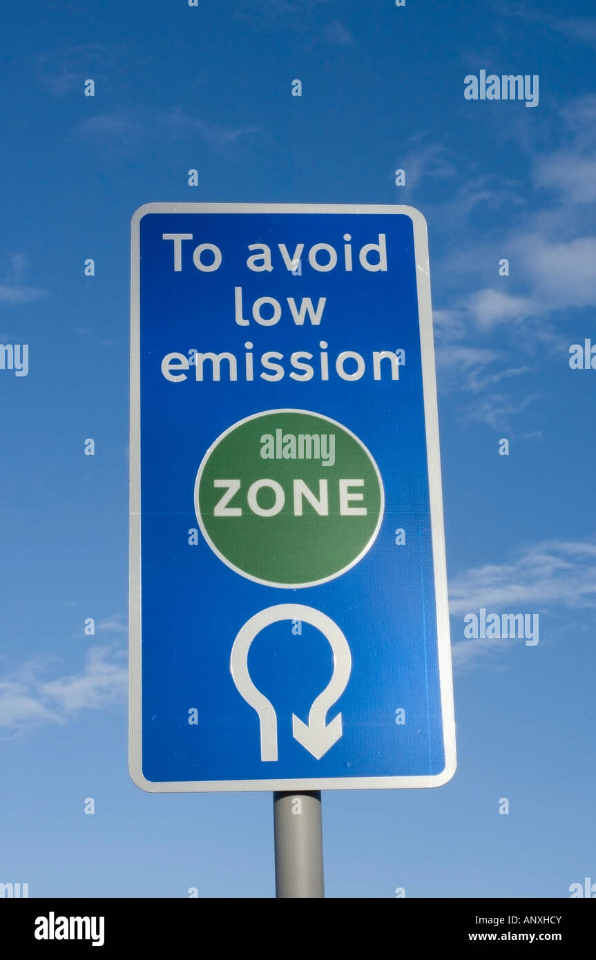 Low Emission Zone - 4 - Stock Image