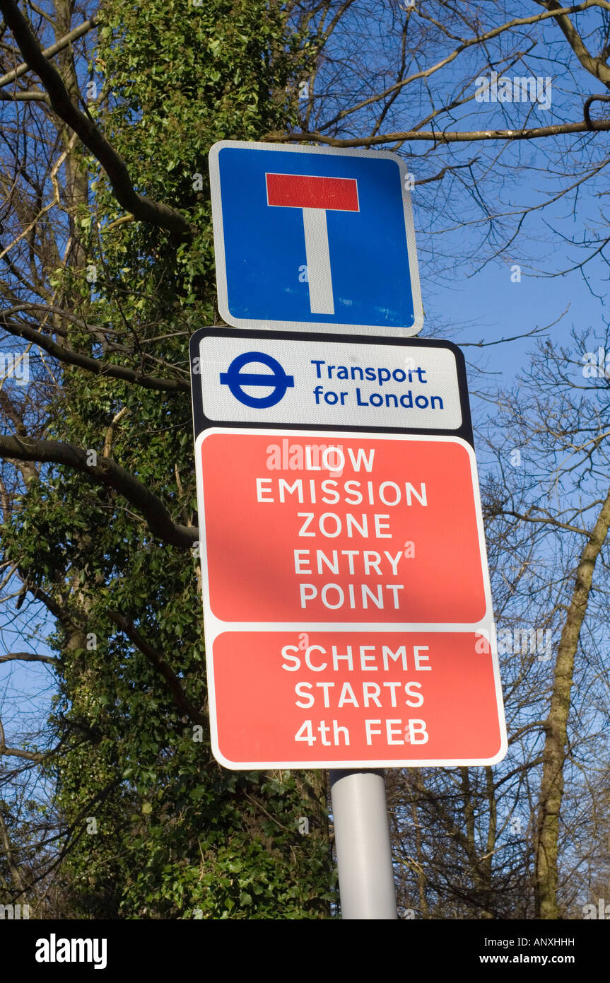 Low Emission Zone -3 - Stock Image
