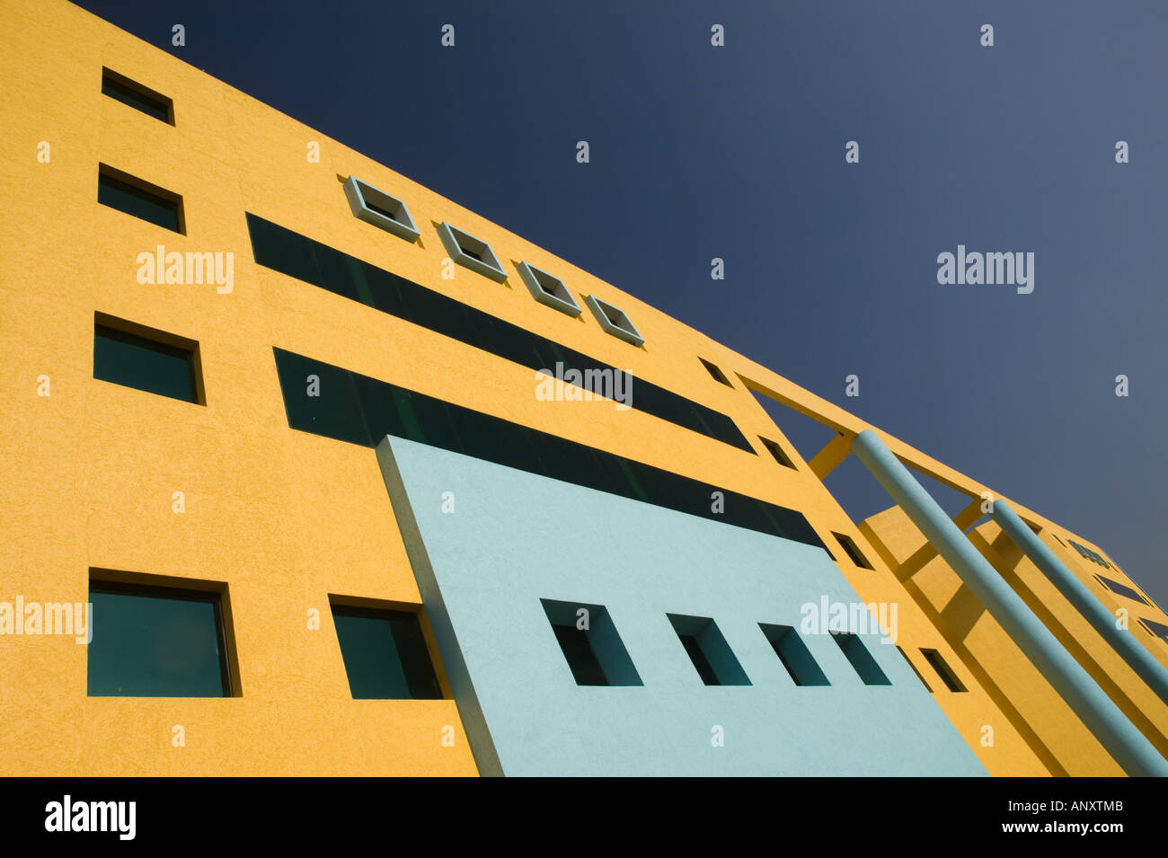 INDIA, Andhra Pradesh, Hyderabad: HITEC CITY, Major center of Indian Software Call Centre Industry. Kanbay / JVP Building - Stock Image