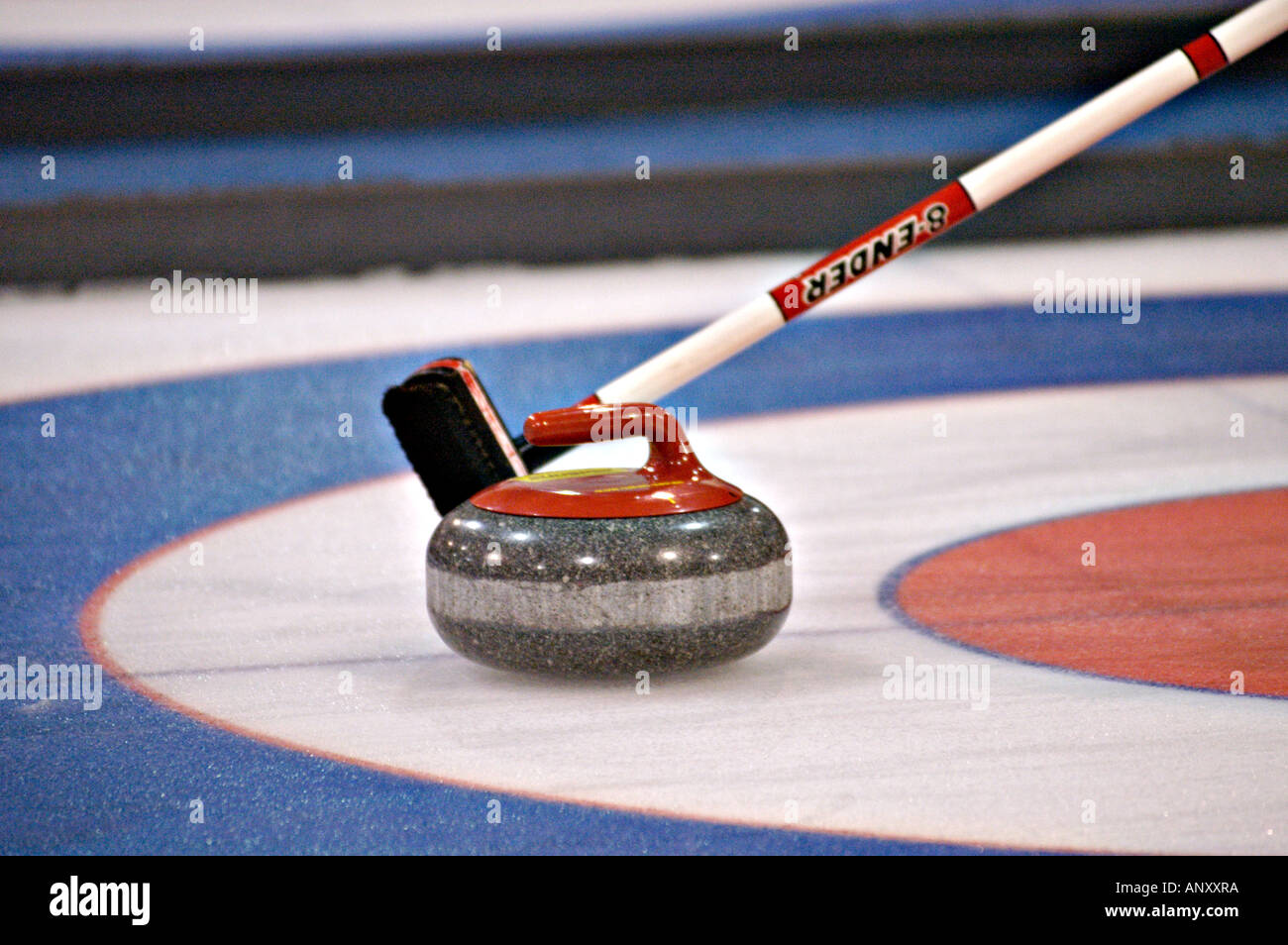 Curling Rock And Broom Stock Photo 8925689 Alamy