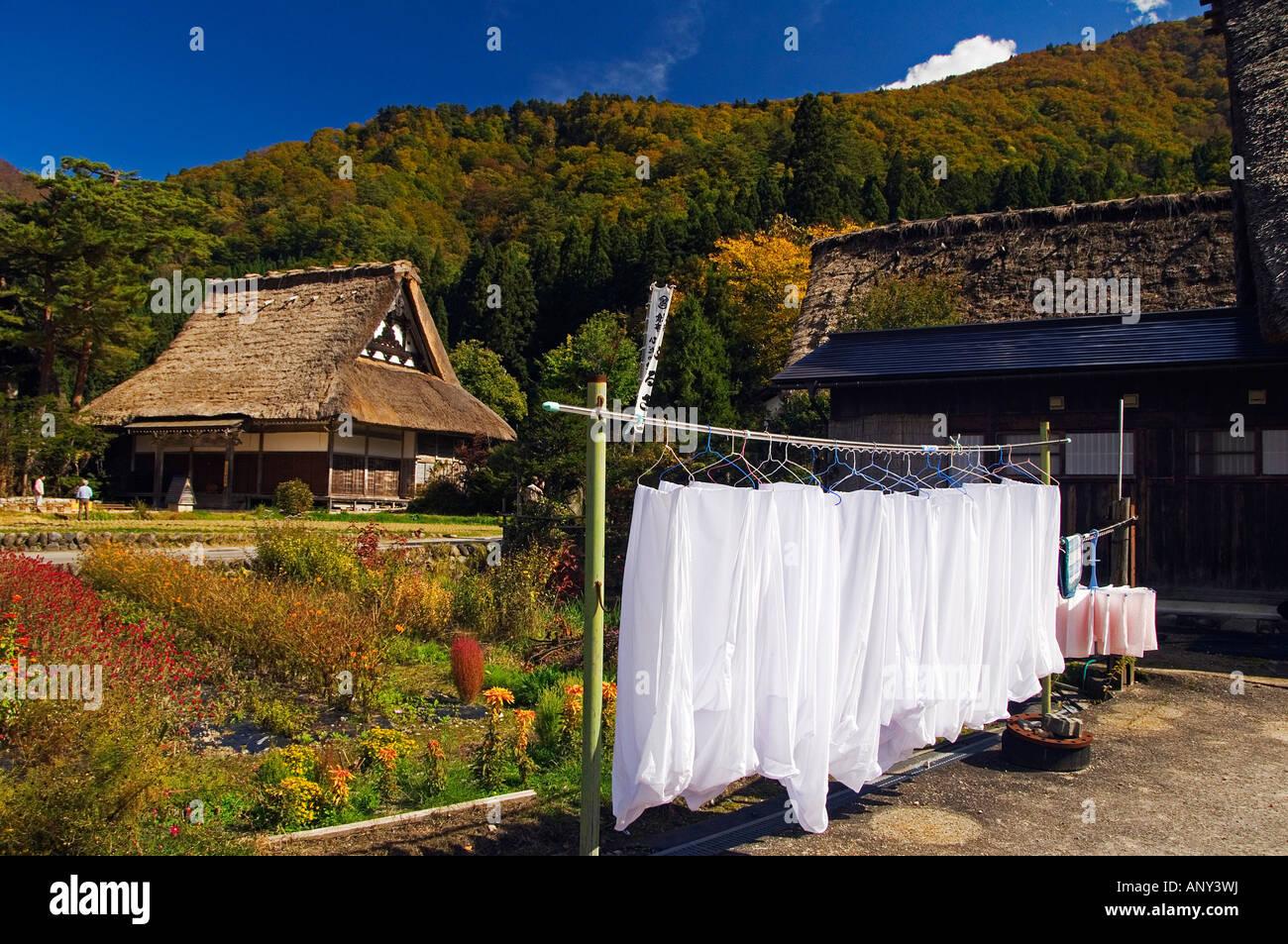 Japan, Honshu Island, Gifu Prefecture, Shirakawa-go. A Unesco World Heritage Site of 'Gassho Zukkuri'. - Stock Image