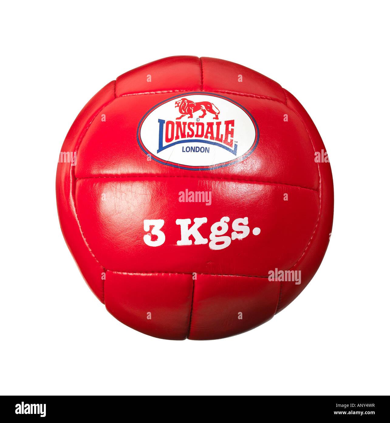 3 Kilogram medicine ball - Stock Image