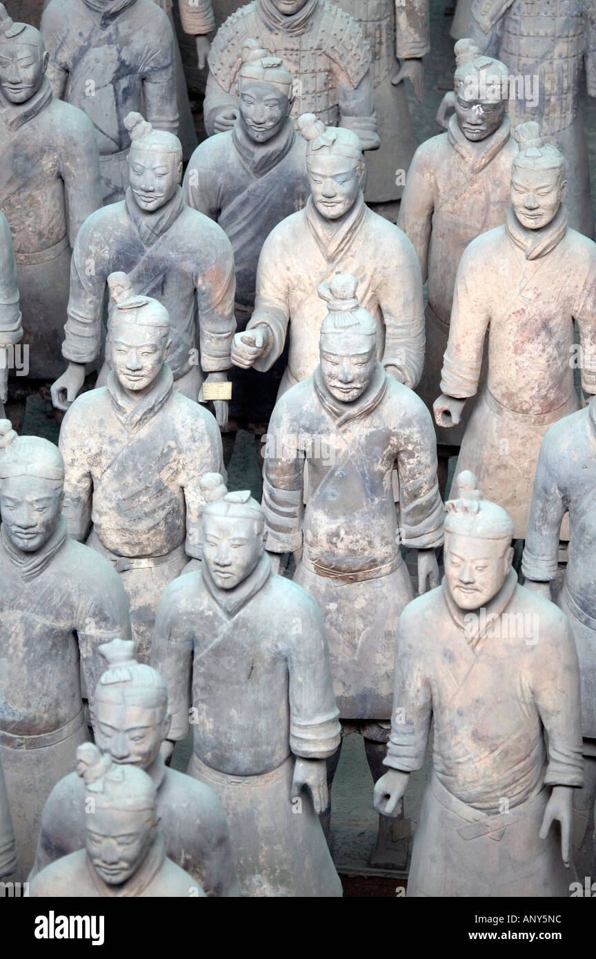 Figures from the Terracota Army Xi an China - Stock Image