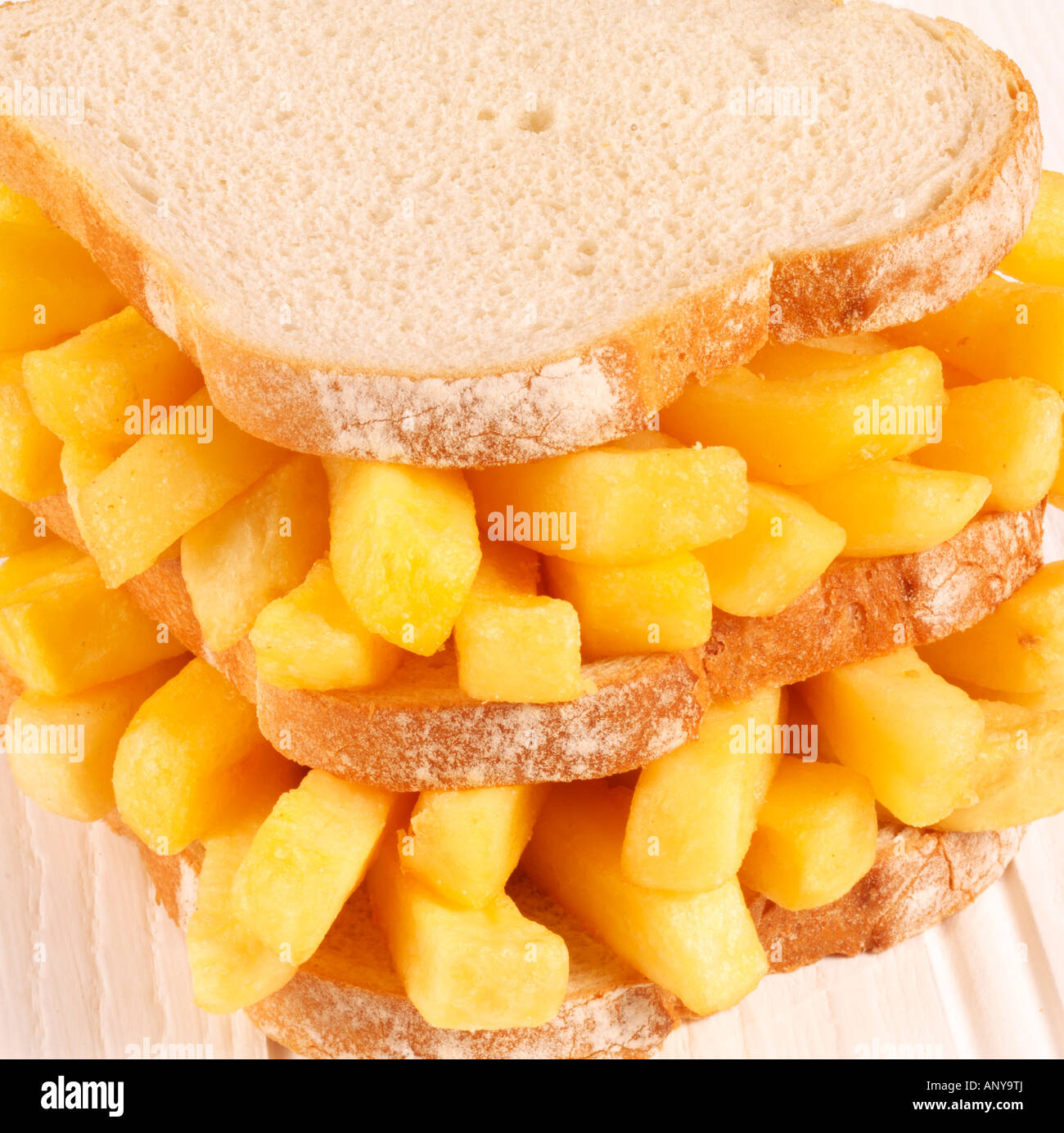 CHIP BUTTY CLOSE UP - Stock Image