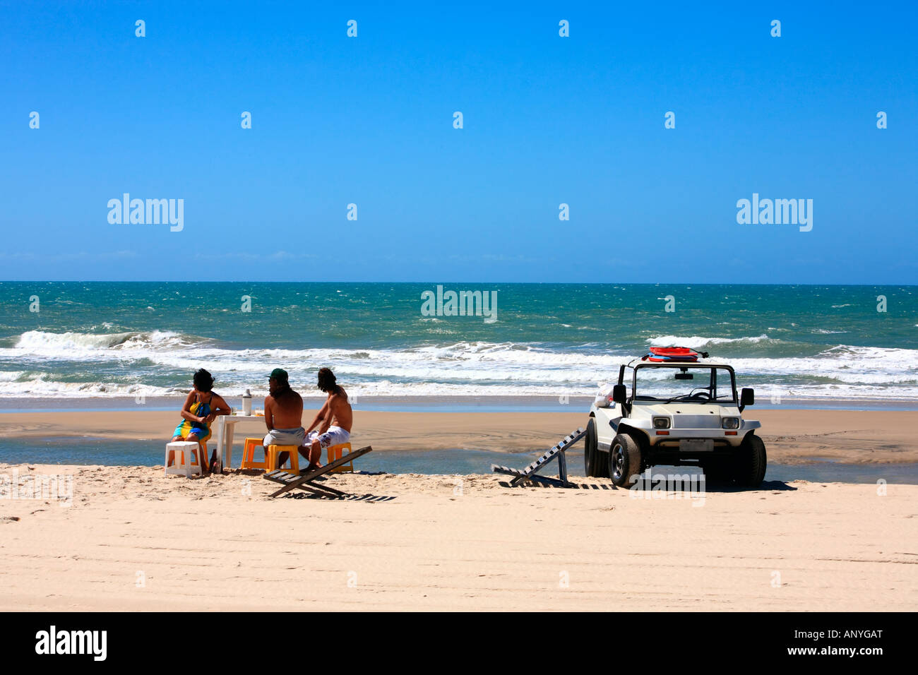 buggy tour and lunch  and prainha beach near fortaleza in ceara state in brazil - Stock Image