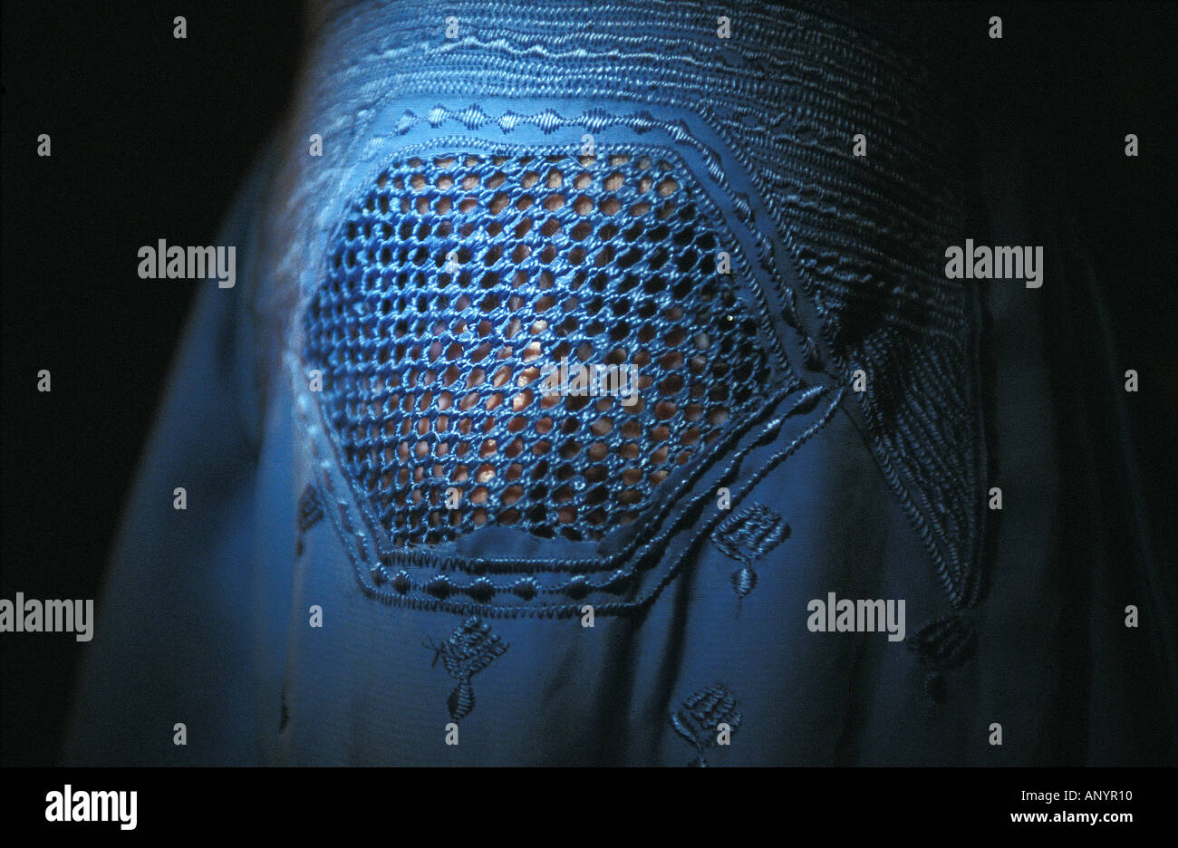 Portrait of woman with a burka - Stock Image