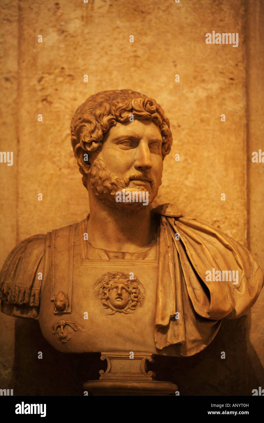 Bust of Hadrian, Capitoline Museums, Musei Capitolini, Rome, Italy - Stock Image