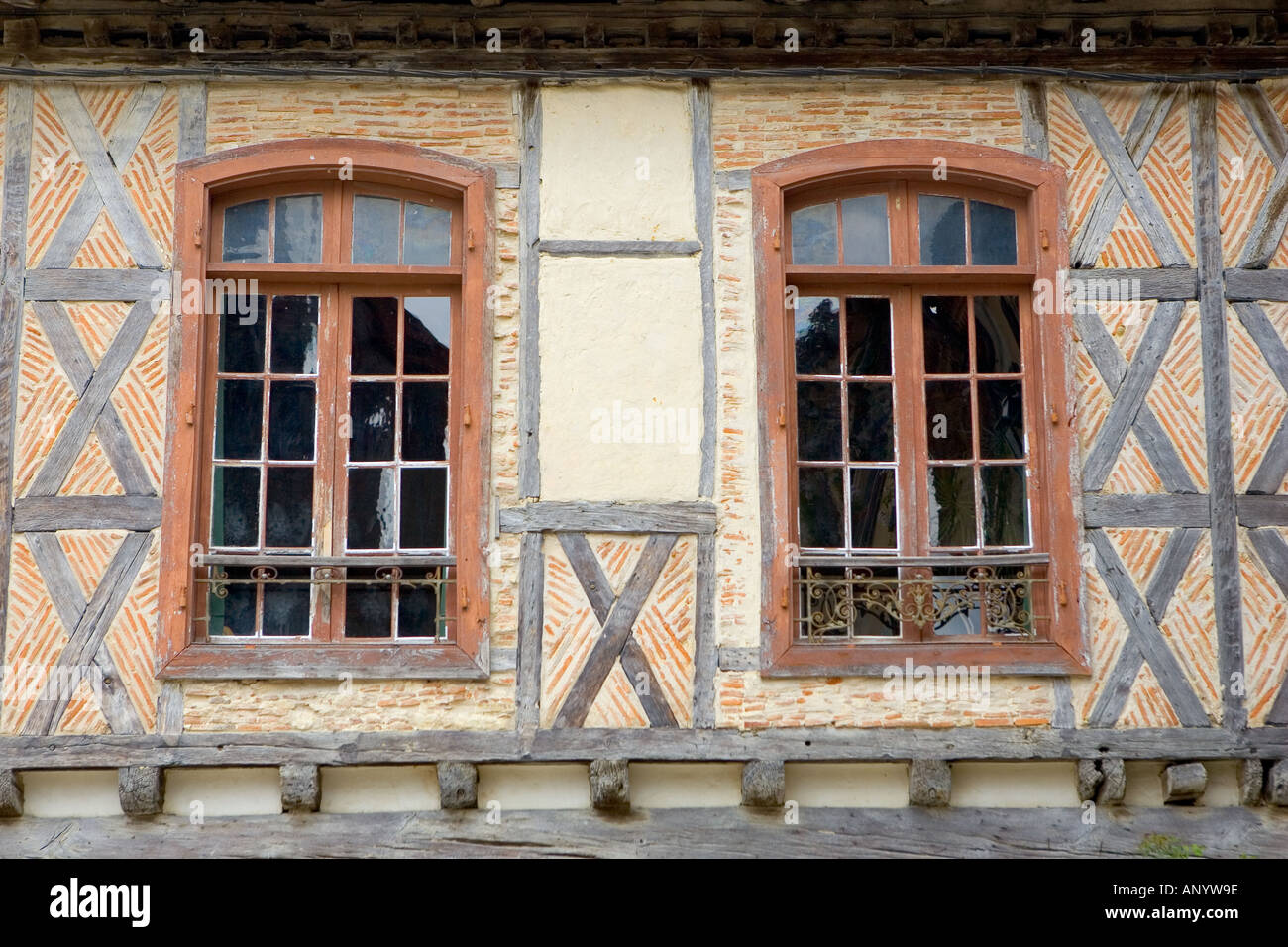 Windows Labastide d Armagnac France - Stock Image