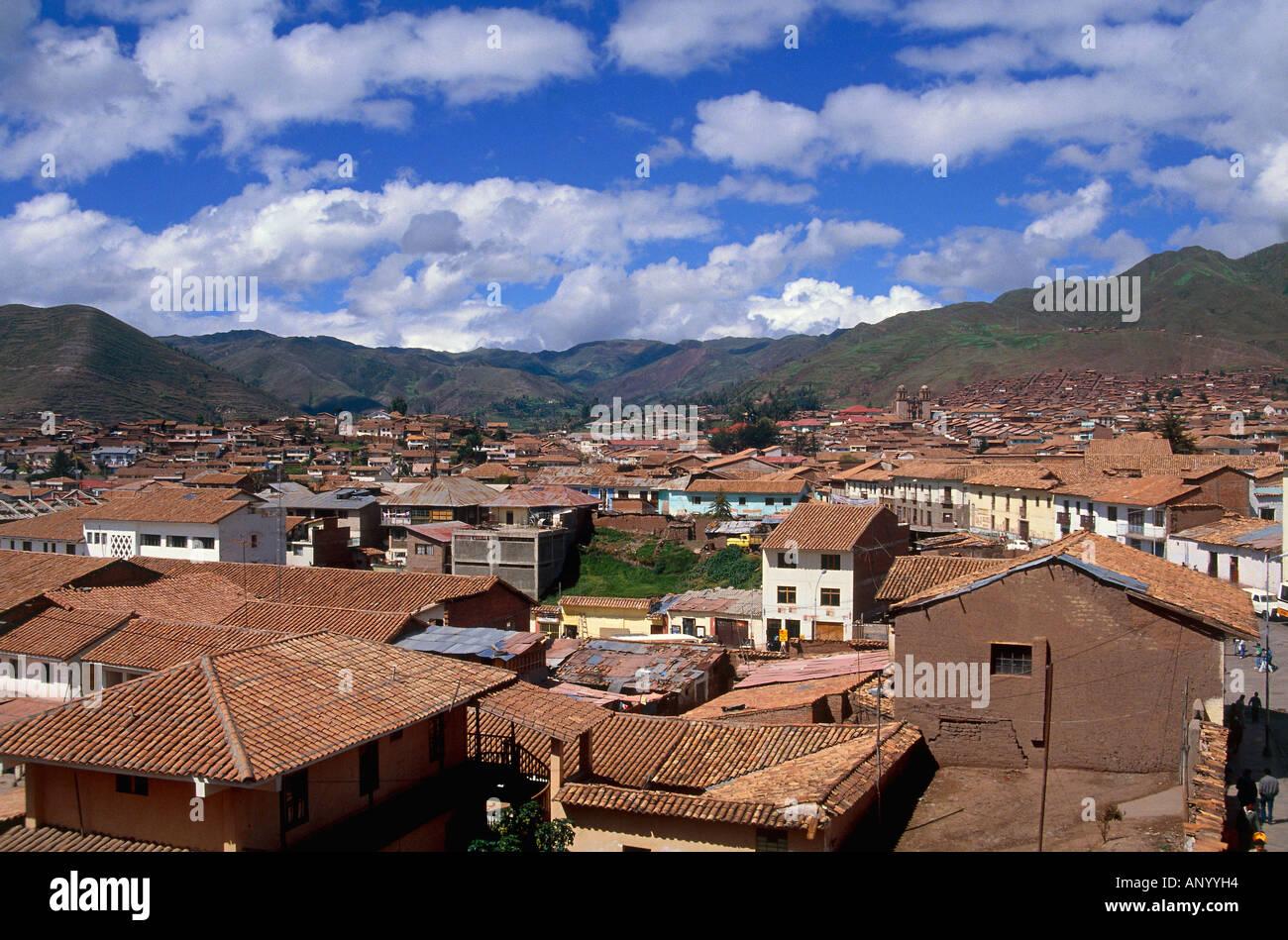 city of cuzco suburb peru - Stock Image