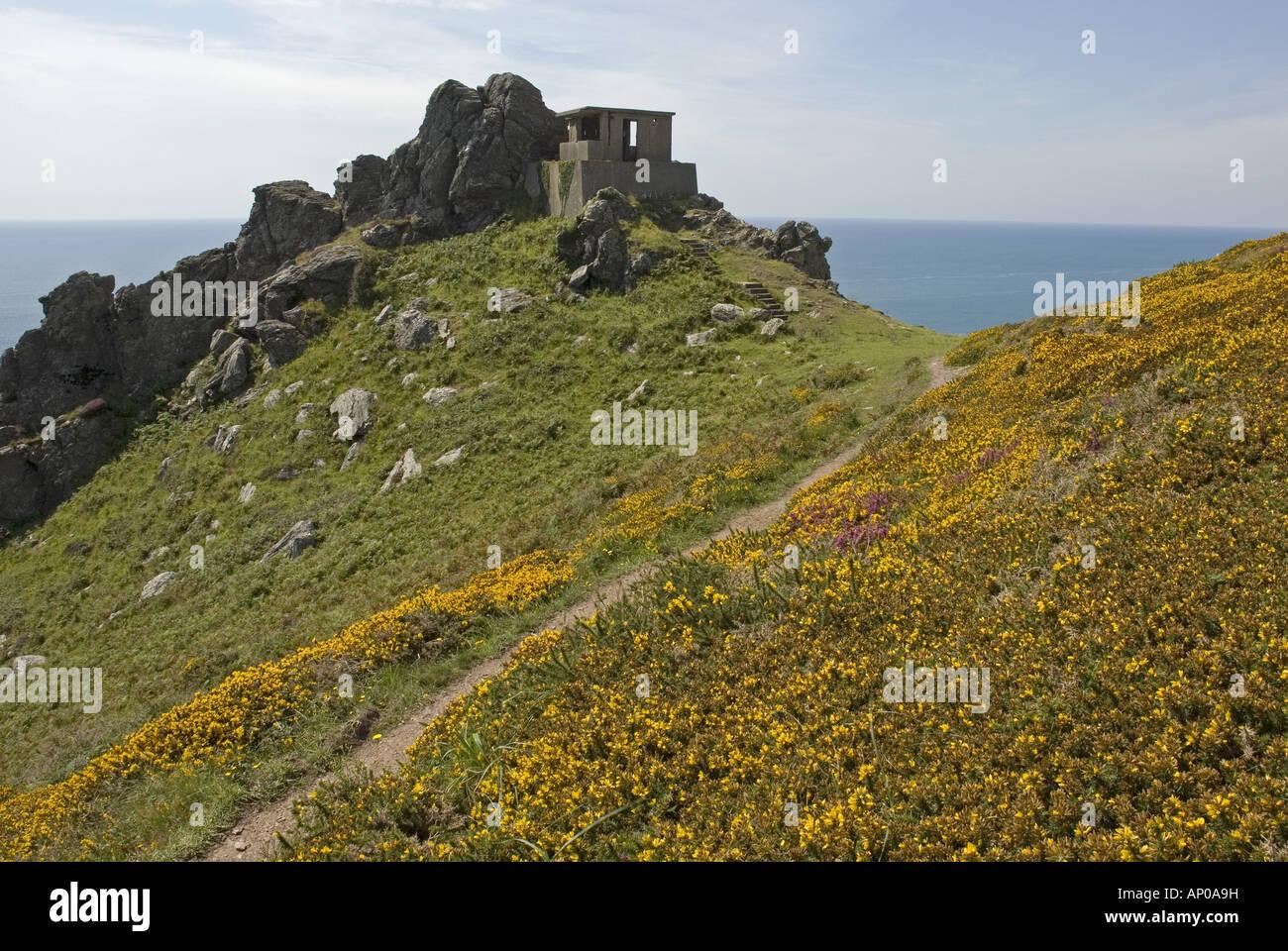South west coast path at Bolt Head, south Devon Stock Photo