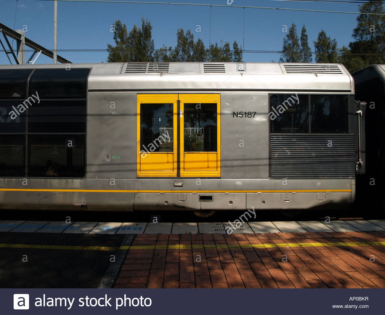 Tangara train ready for depart at Tempe Station in Sydney South. - Stock Image
