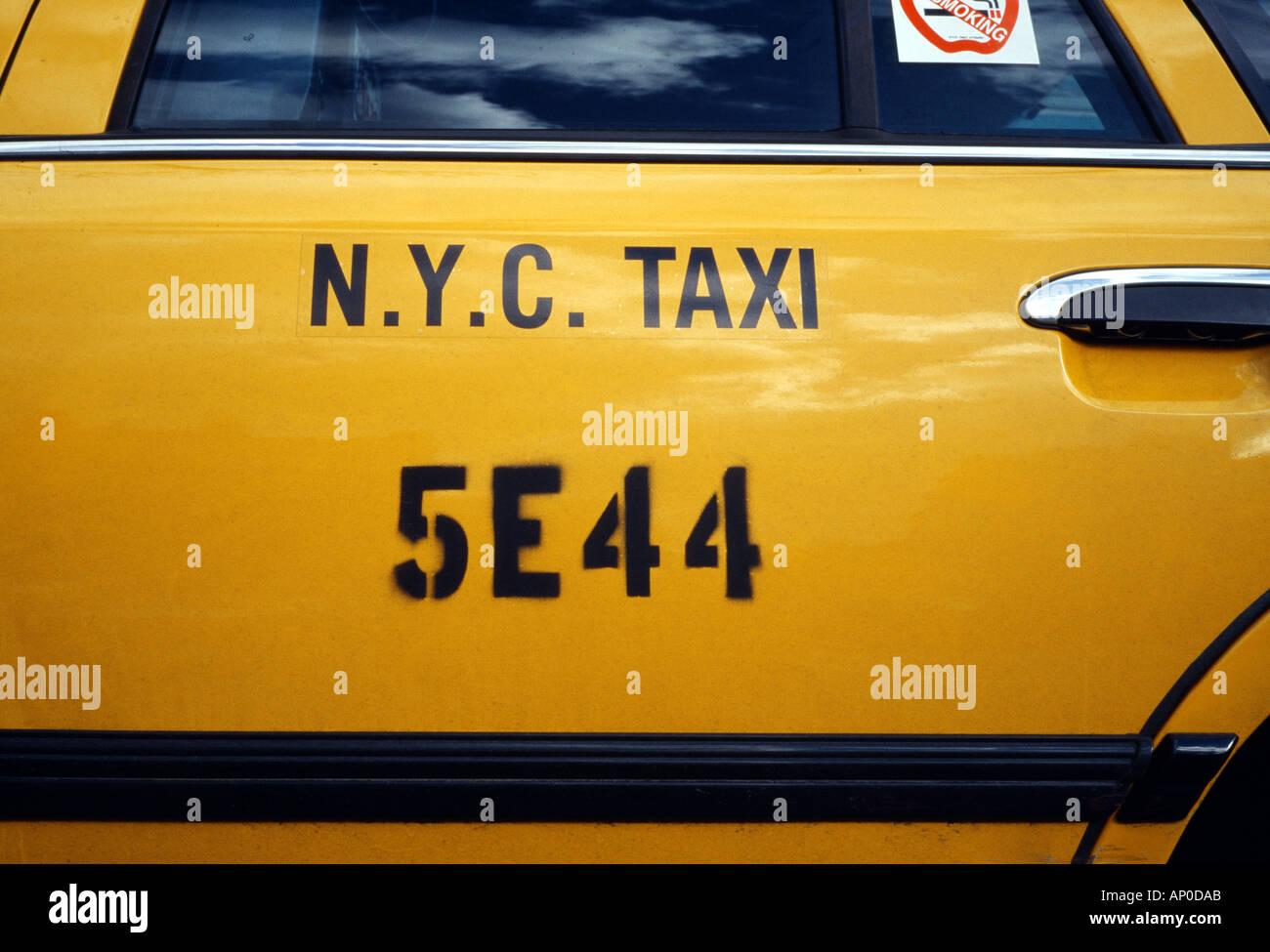 yellow taxi cab door New York City USA - Stock Image & Yellow Taxi Door Stock Photos u0026 Yellow Taxi Door Stock Images - Alamy