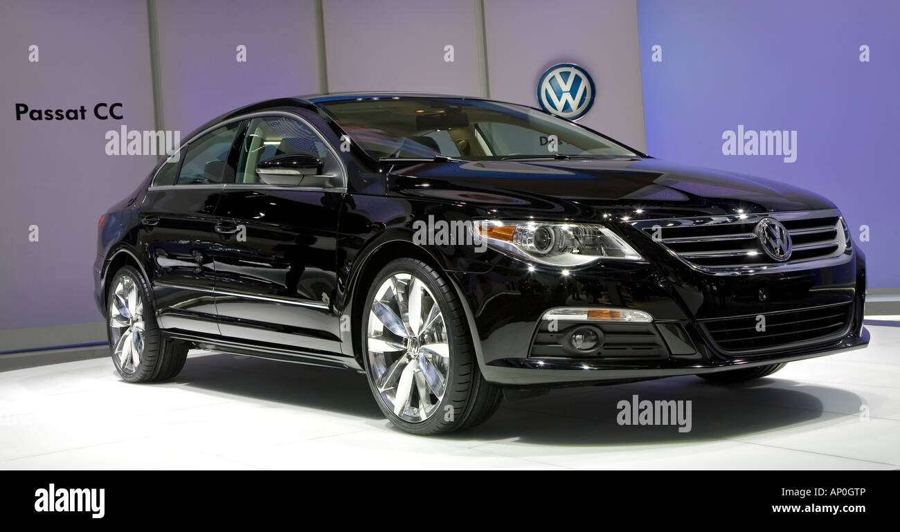 Detroit Michigan The Volkswagen Passat CC on display at the North American International Auto Show - Stock Image
