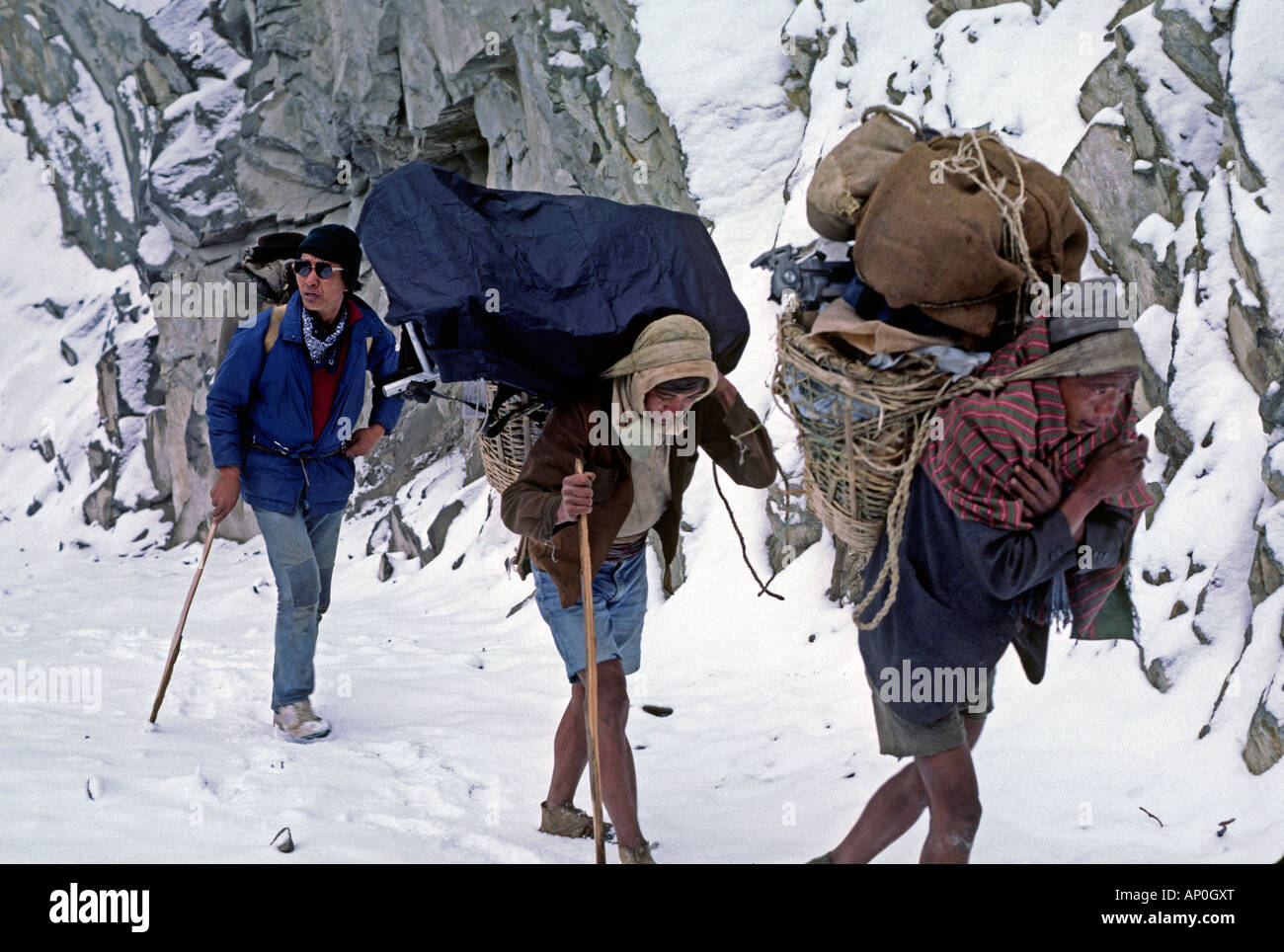 Yeshi my Sirdar head Sherpa porters in the GANESH HIMAL NEPAL - Stock Image