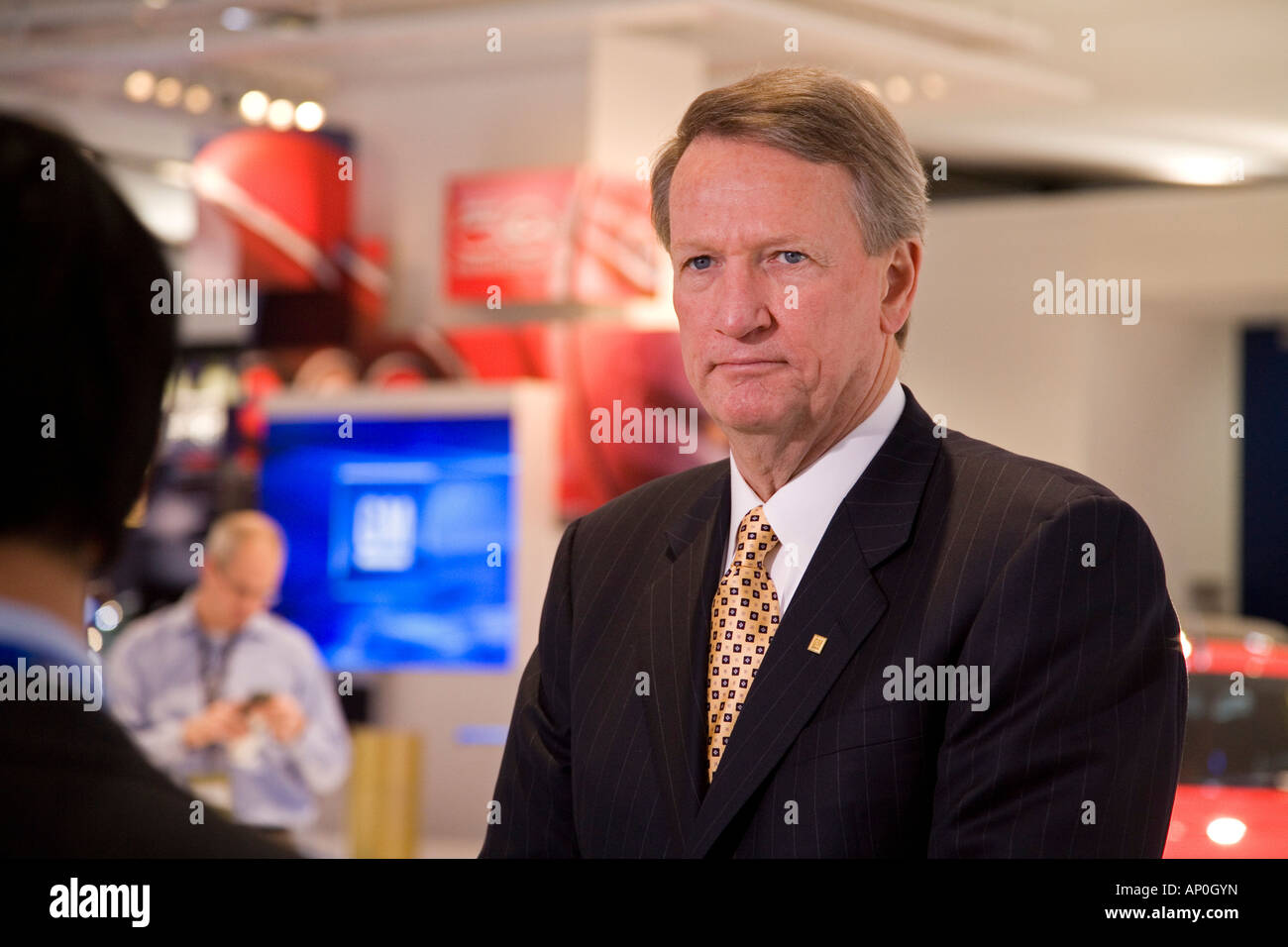 Detroit Michigan General Motors CEO Rick Wagoner at the North American International Auto Show - Stock Image