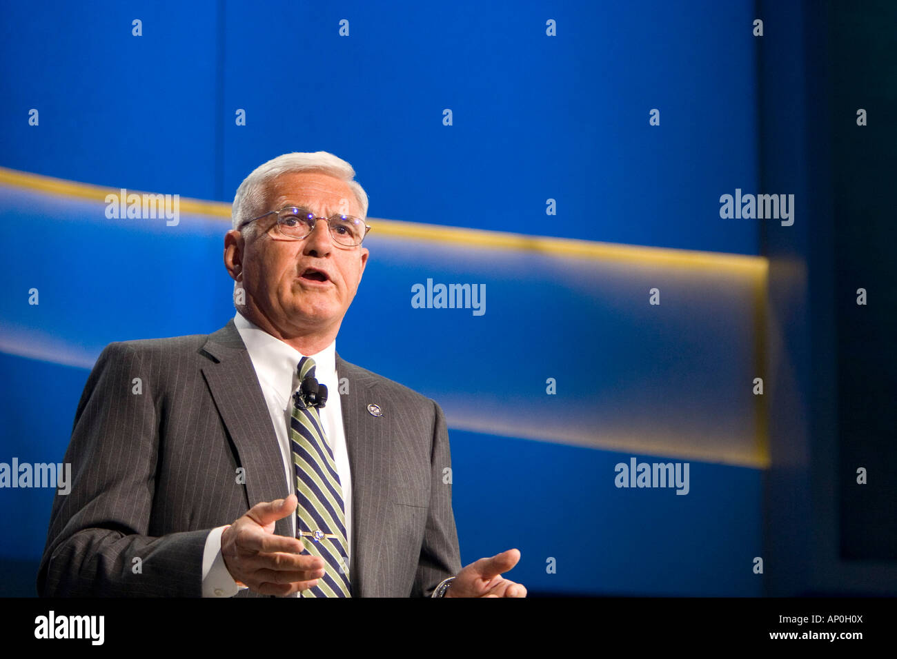 Detroit Michigan General Motors Vice Chairman Robert Lutz at the North American International Auto Show - Stock Image