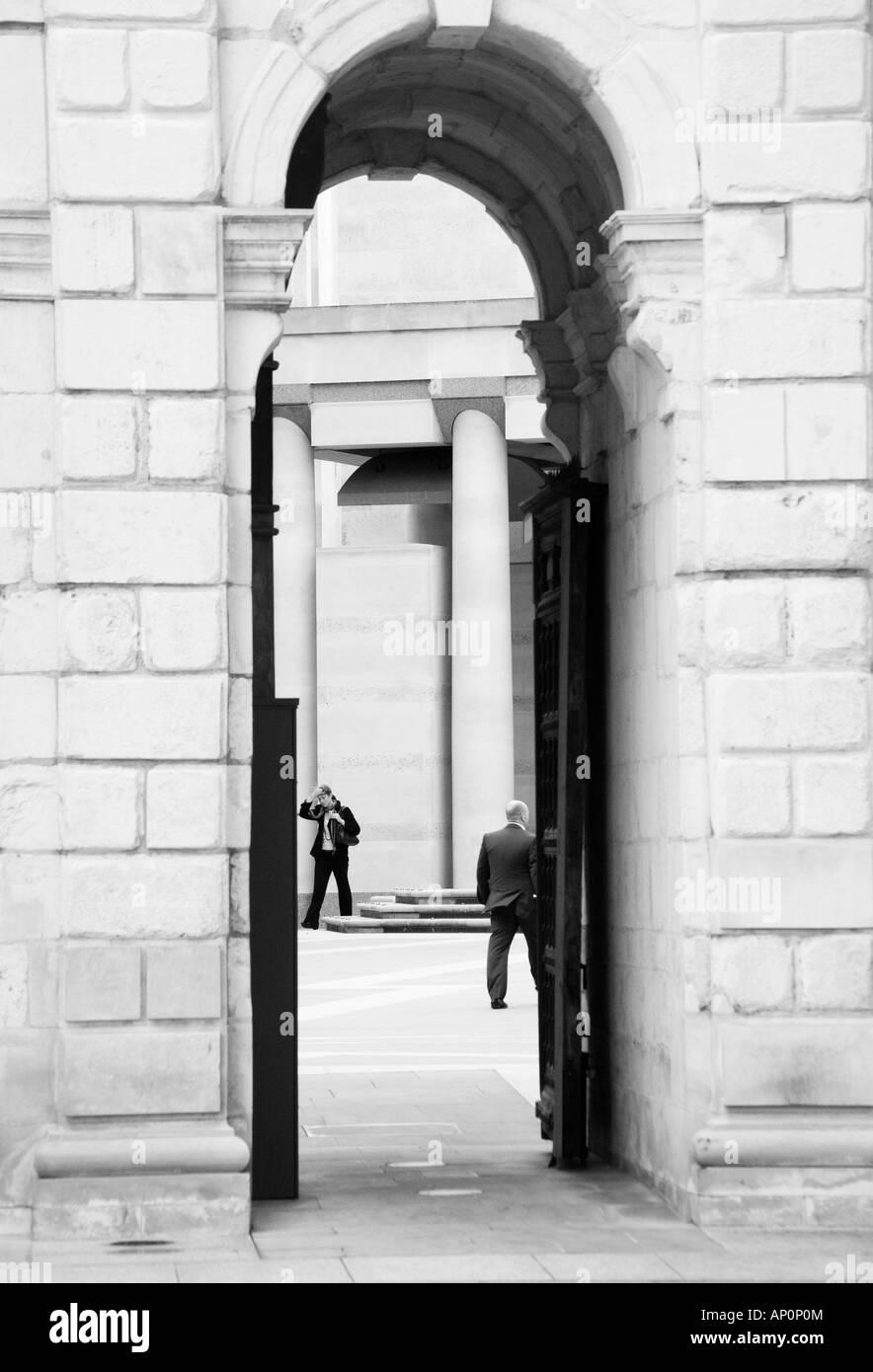 Narrow Stone Archway London England United Kingdom - Stock Image