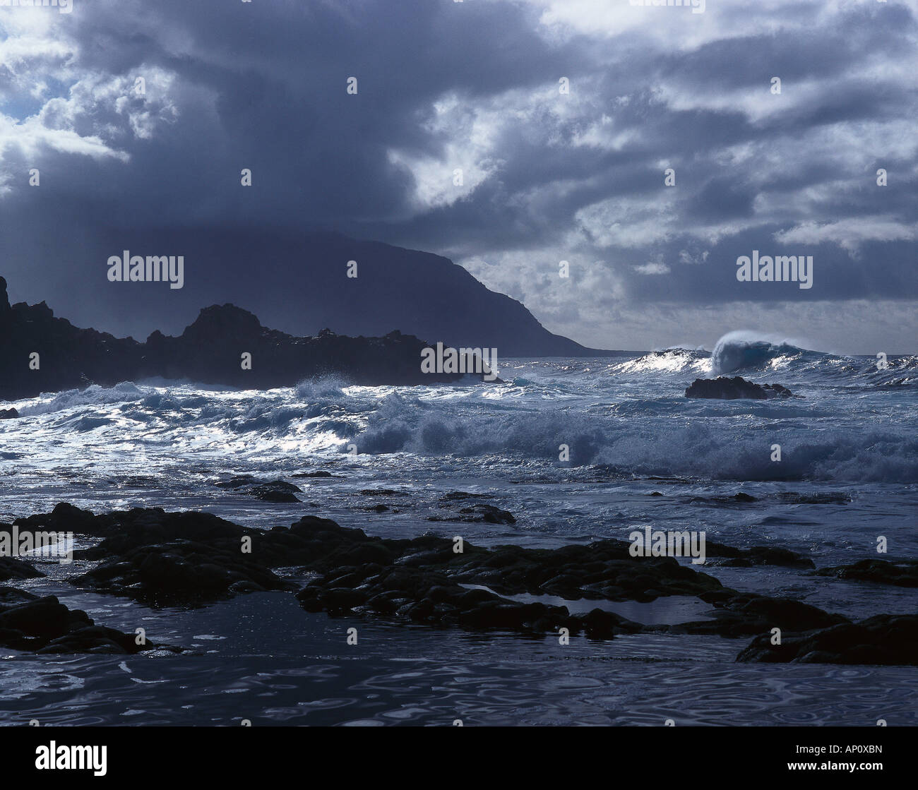 Rocky coast, El Hierro, Canary Islands, Spain Stock Photo