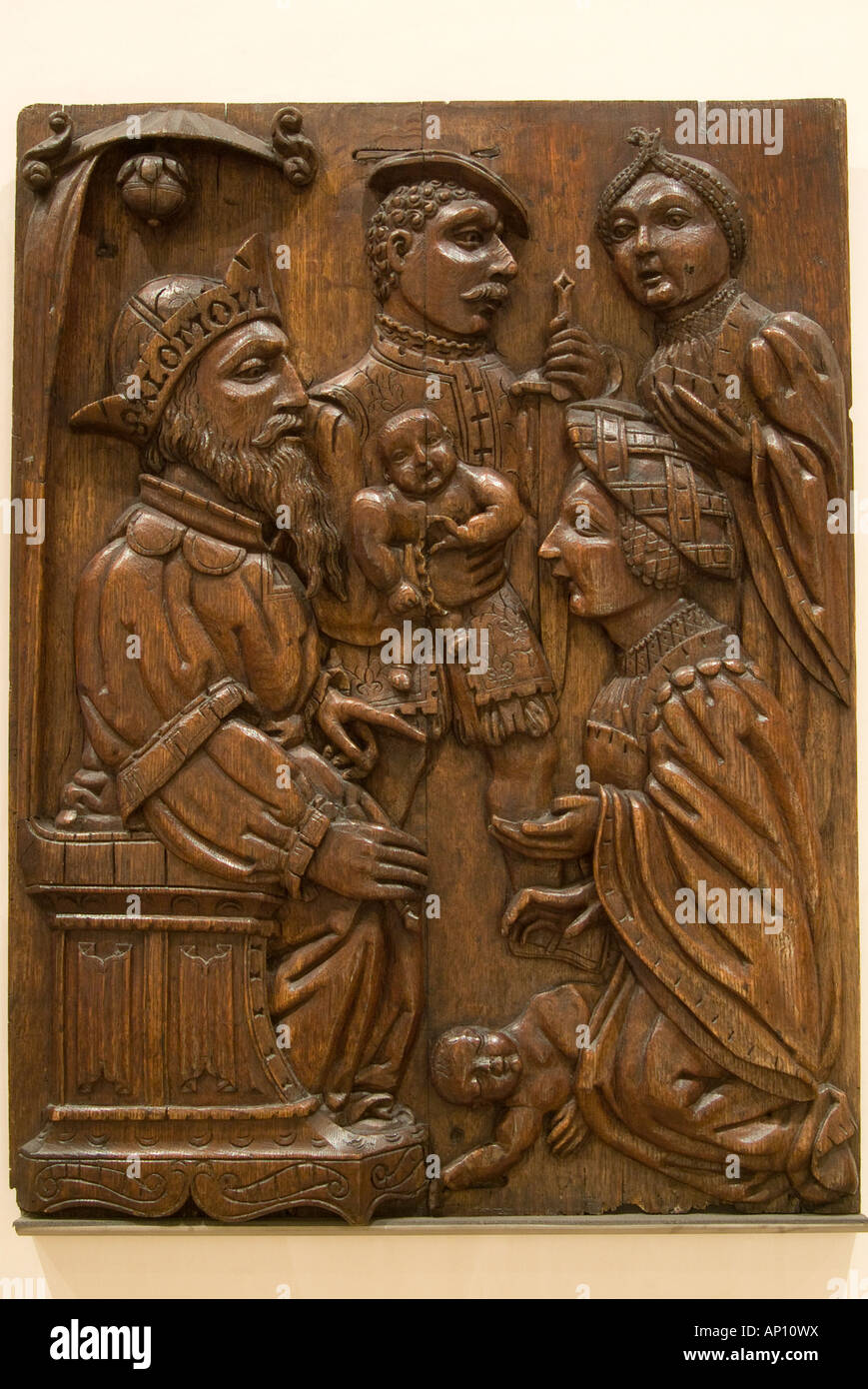 house overgate dundee mid 16th century biblical image copied from medieval woodcut carved in renaissance style high - Stock Image