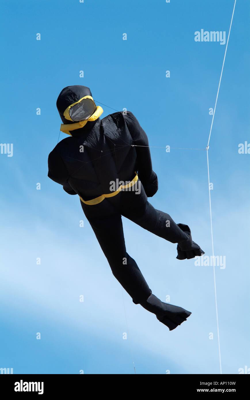 Scuba diver kite
