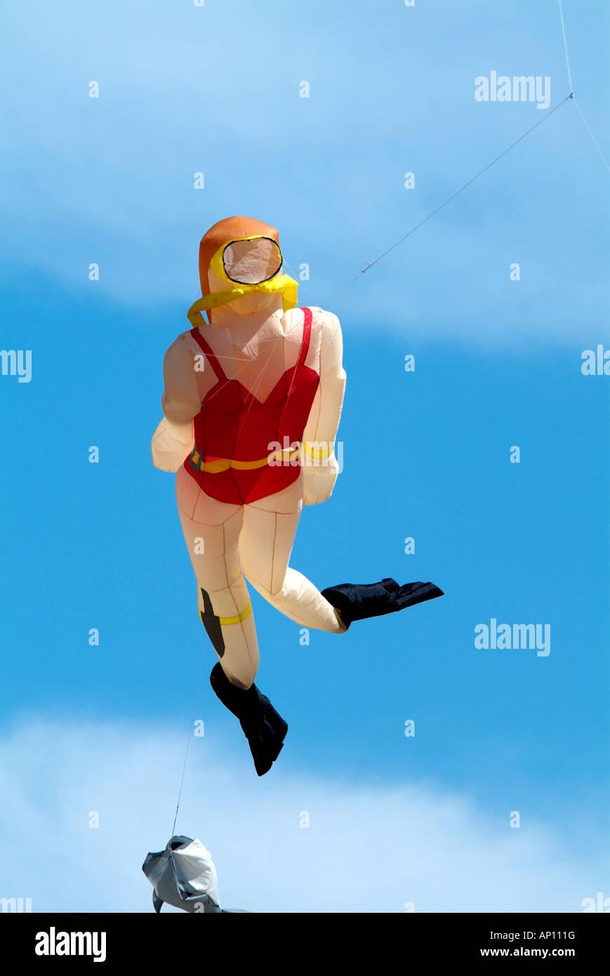 Kite Festival Scuba Diver Snorkle Face Mask Flipper Red Bathing