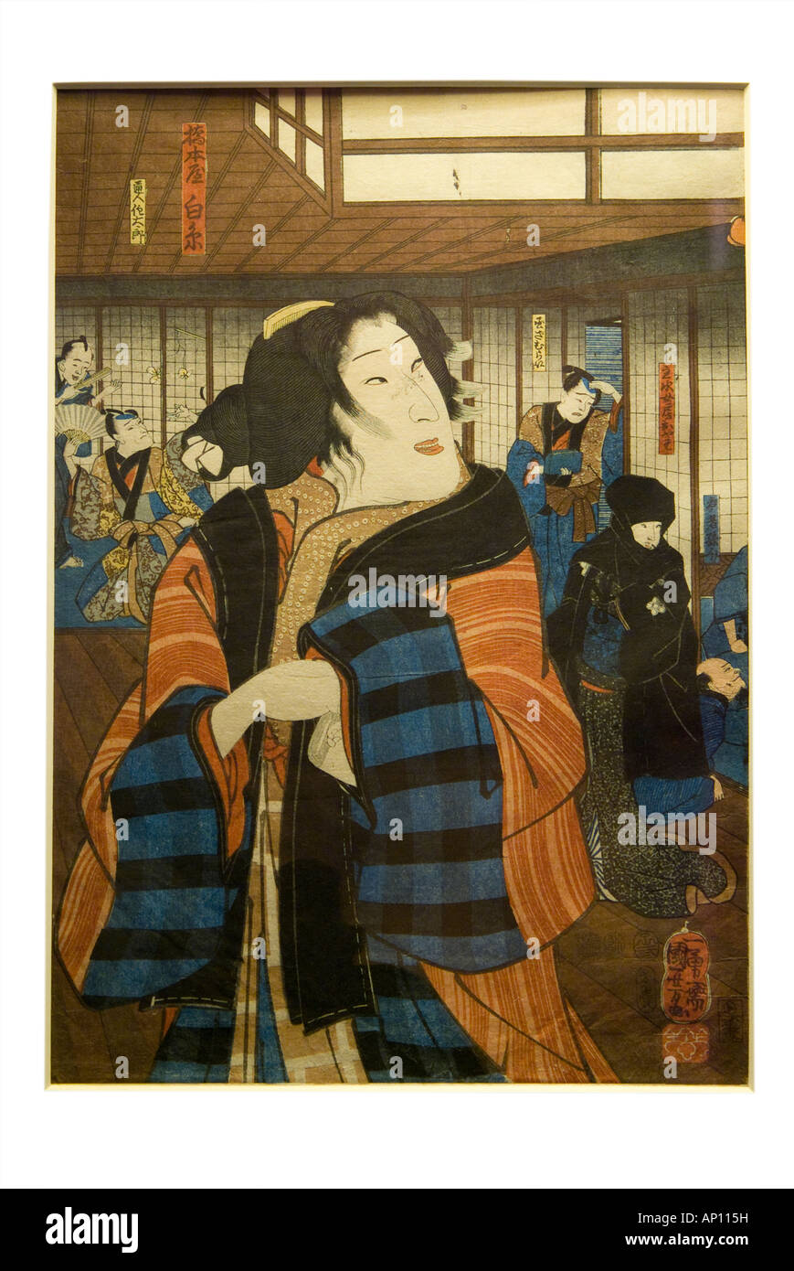 Utagawa kuniyoshi bando shuka Japan Japanese orient oriental print woodblock printing1797 1861great master ukiyo - Stock Image