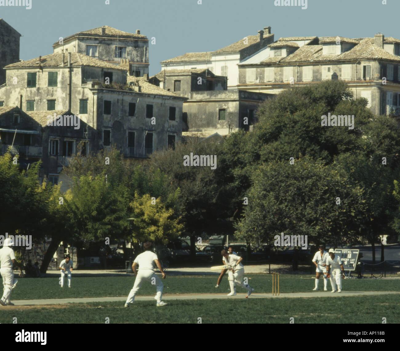 Greece Corfu Cricket - Stock Image
