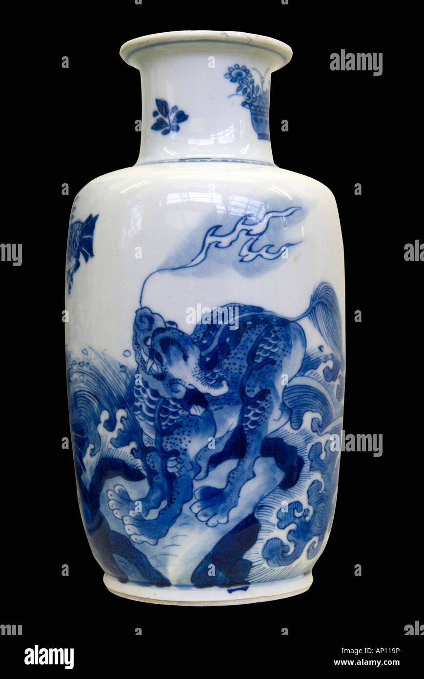 ming dynasty dragon vase porcelain ceramic chinese fire fierce symetry balance grace harmony northeast china asia - Ming Vase