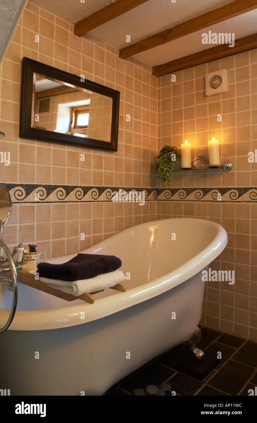 Victorian Bath In Cottage Bathroom