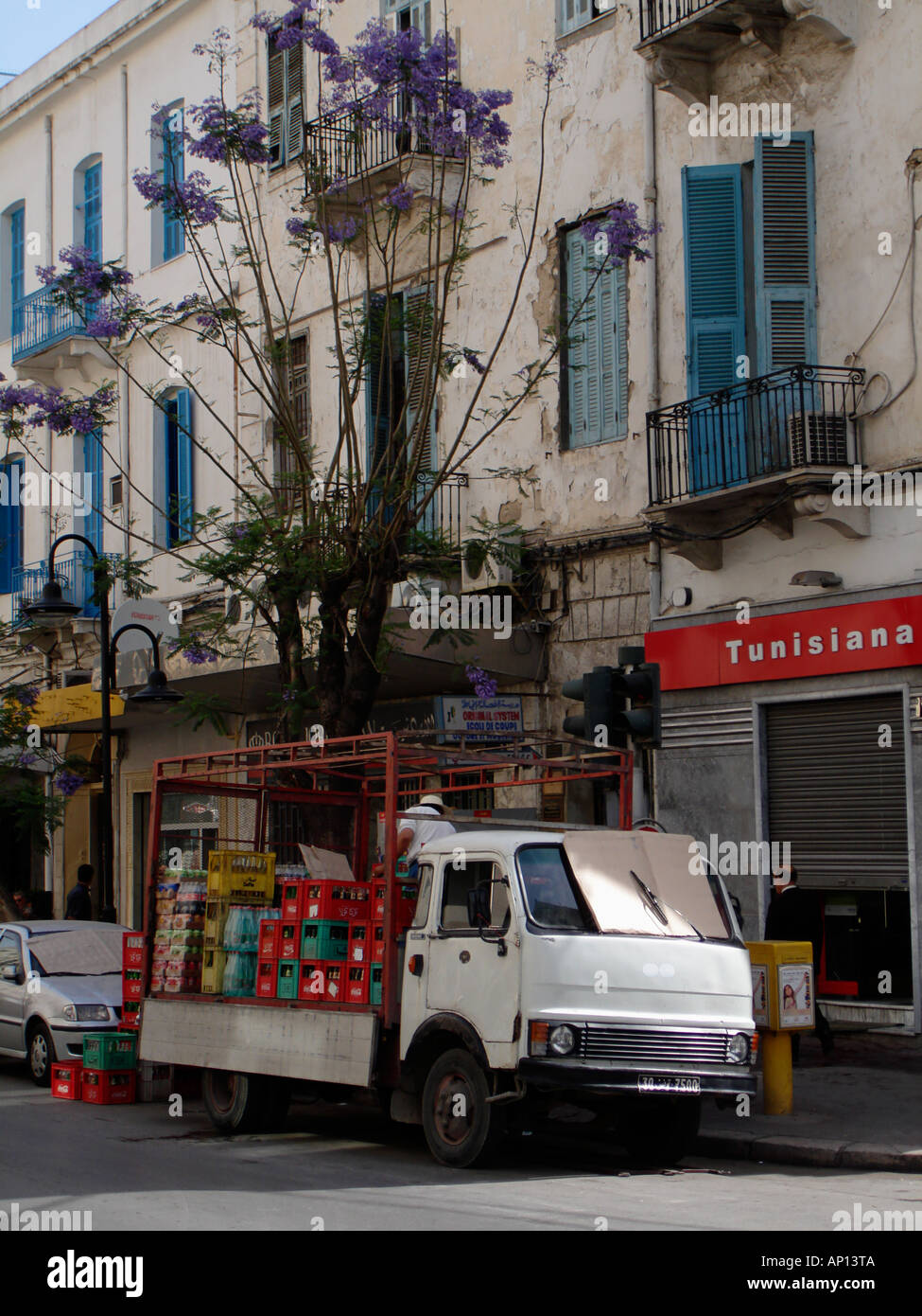 Truck in Tunis, Tunesia - Stock Image