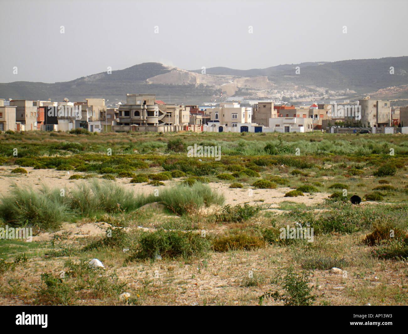 Tunisian landscape, Tunesia, Africa - Stock Image