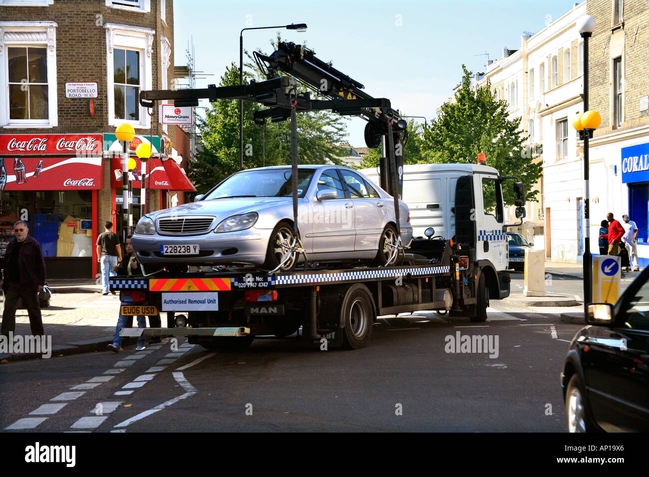 Car Removal Unit for Illegal Parking in west London - Stock Image