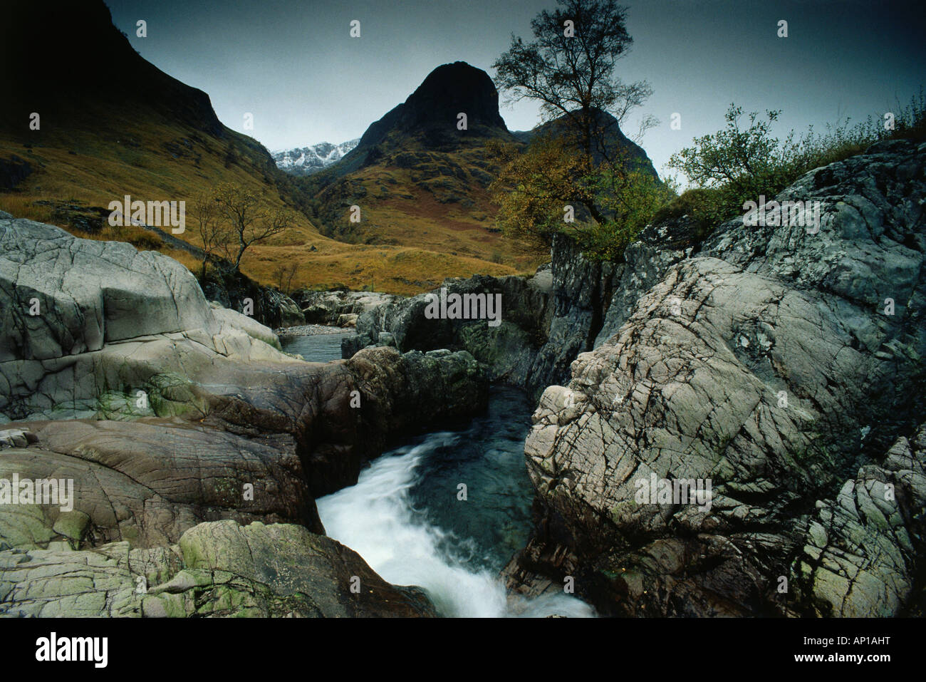 Glen Coe, considered to be one of the most spectacular and beautiful places in Scotland, Highlands, Scotland, Great - Stock Image