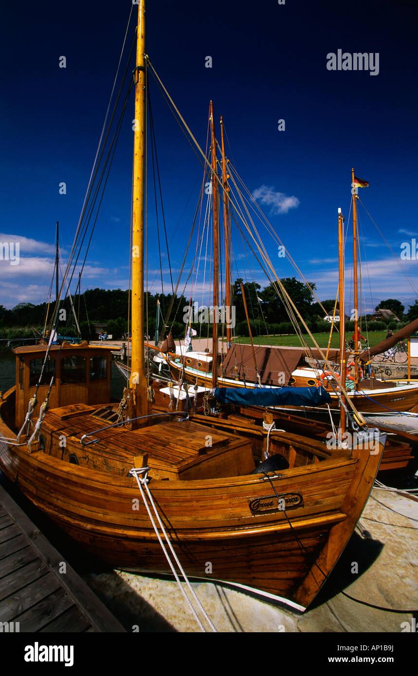 Harbour of Wiek, Mecklenburg-Western Pomerania, Germany - Stock Image
