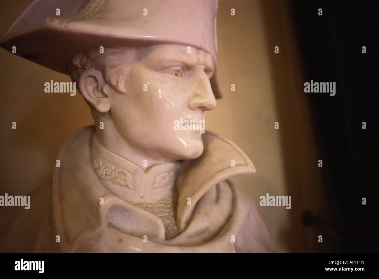 Bust of Napoleon, Casa Napoleone, Elba, Tuscany, Italy - Stock Image