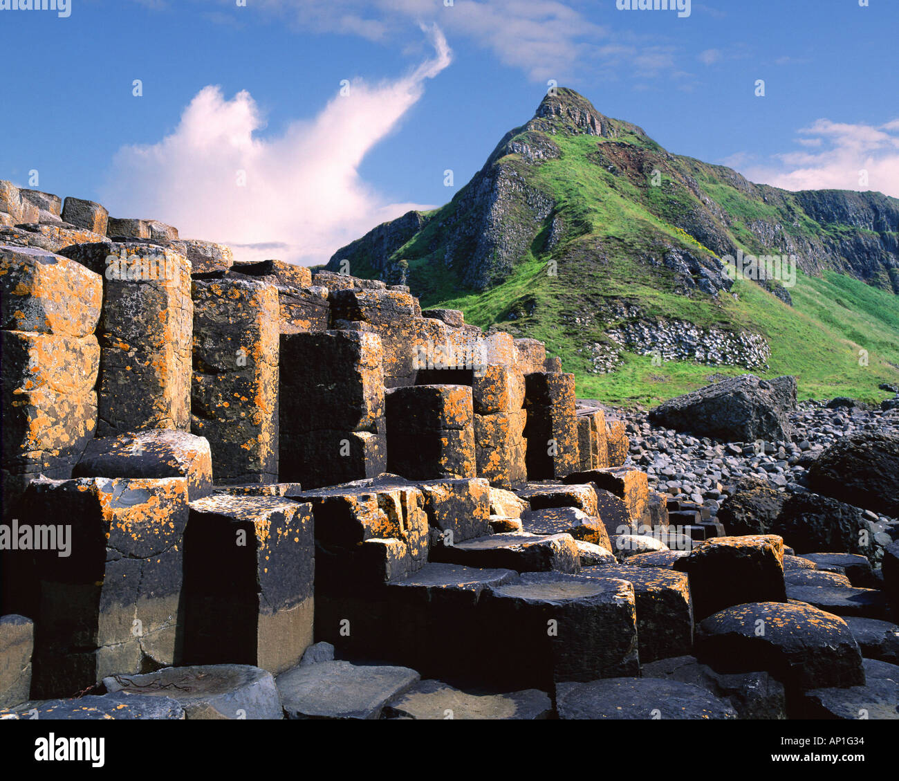 GB - NORTHERN IRELAND: Giants Causeway - Stock Image