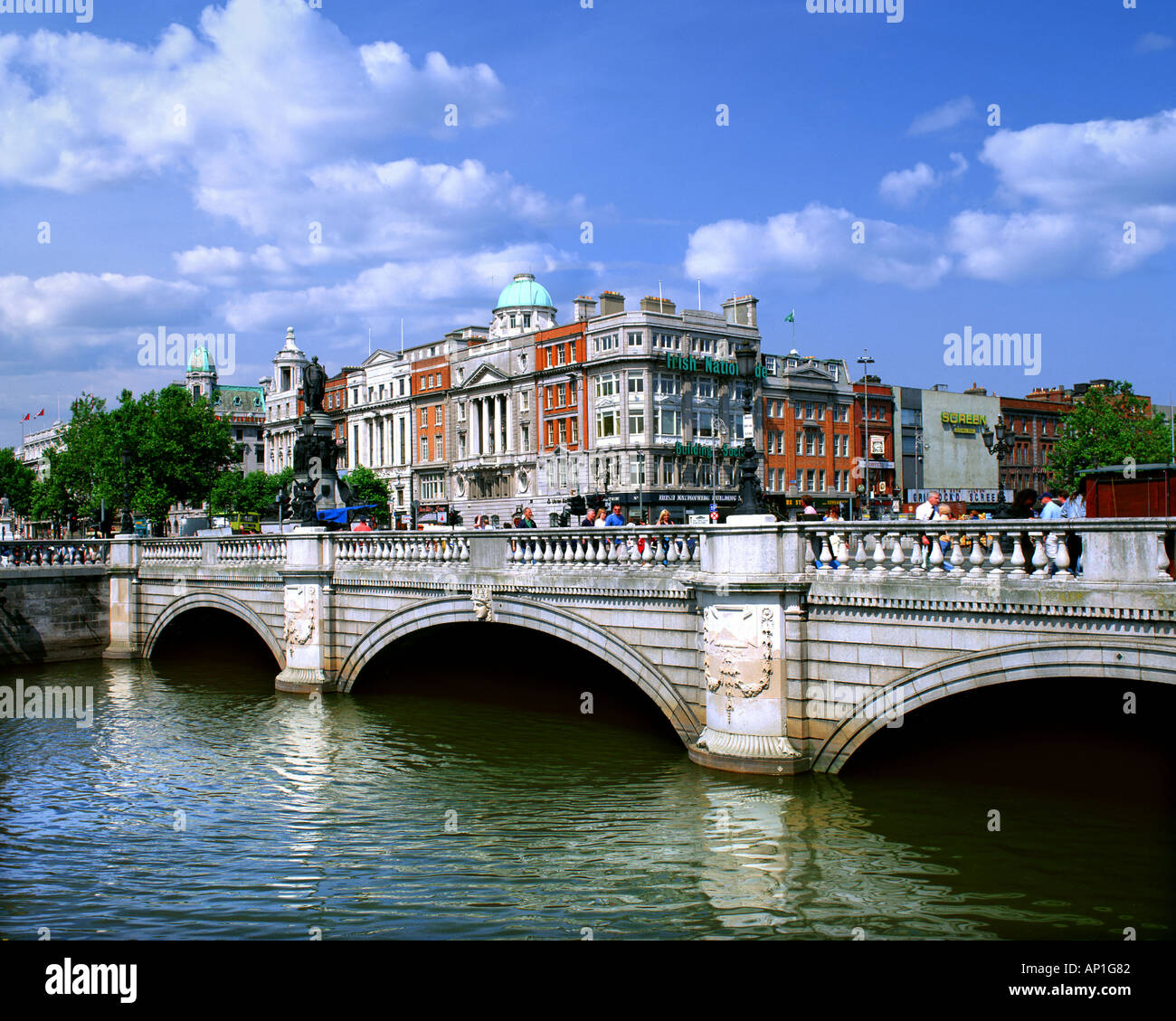 IE - DUBLIN: O'Connell Bridge - Stock Image