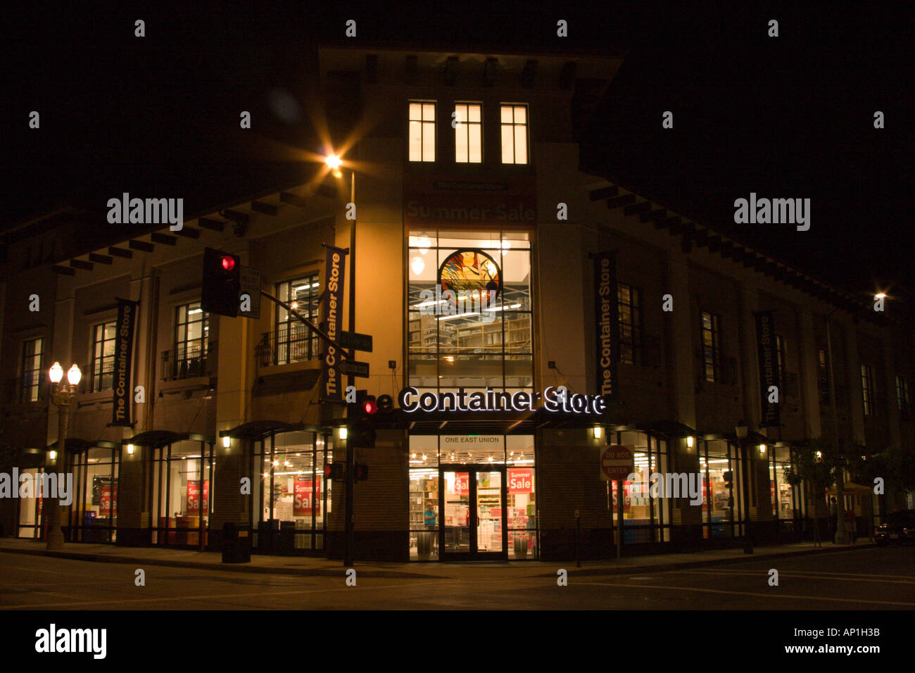 The Container Store, One East Union, Old Town Pasadena, Los Angeles County, Southern California - Stock Image