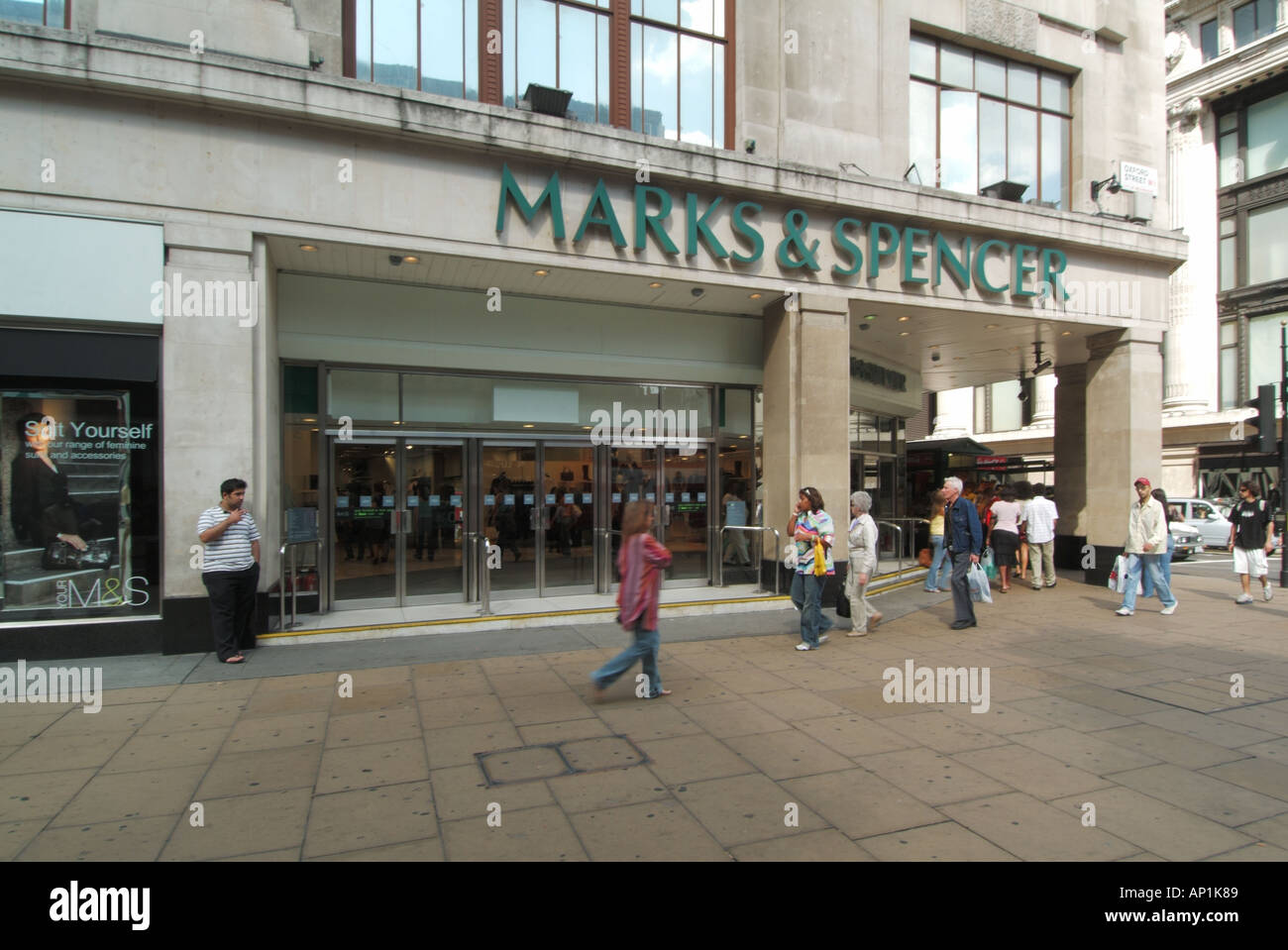 London oxford street ms mark spencer shop store stock photo london oxford street ms mark spencer shop store solutioingenieria Gallery
