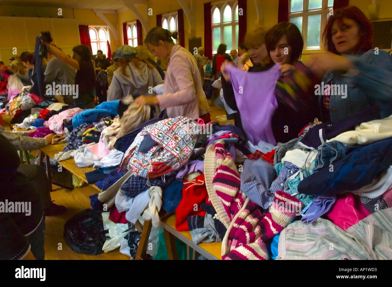 Jumble Sale - Stock Image