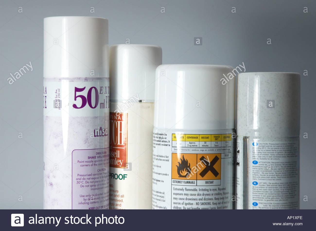 Household aerosols - Stock Image