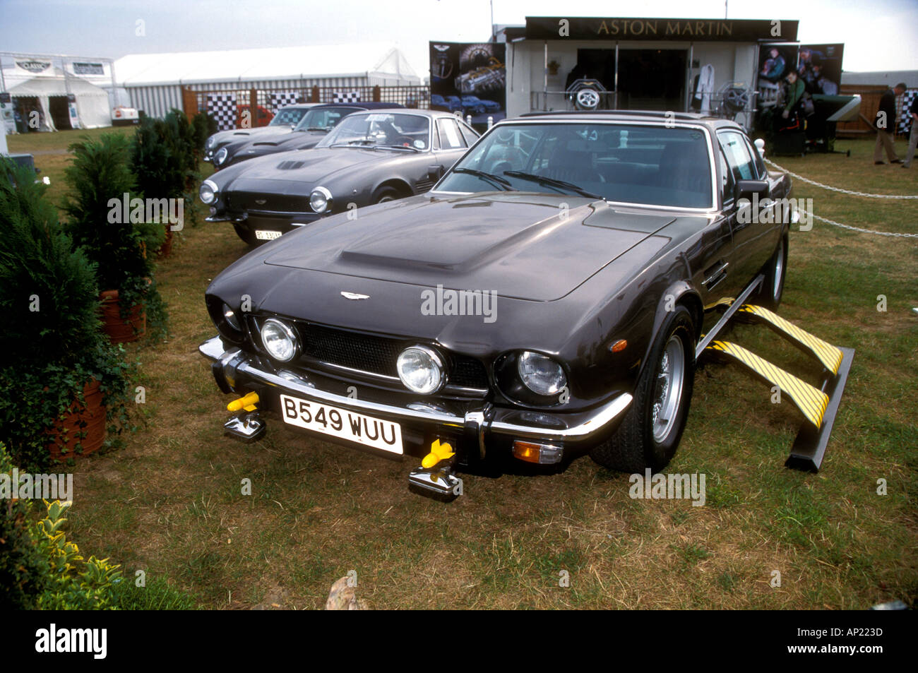 Aston Martin V8 from The Living Daylights - Stock Image