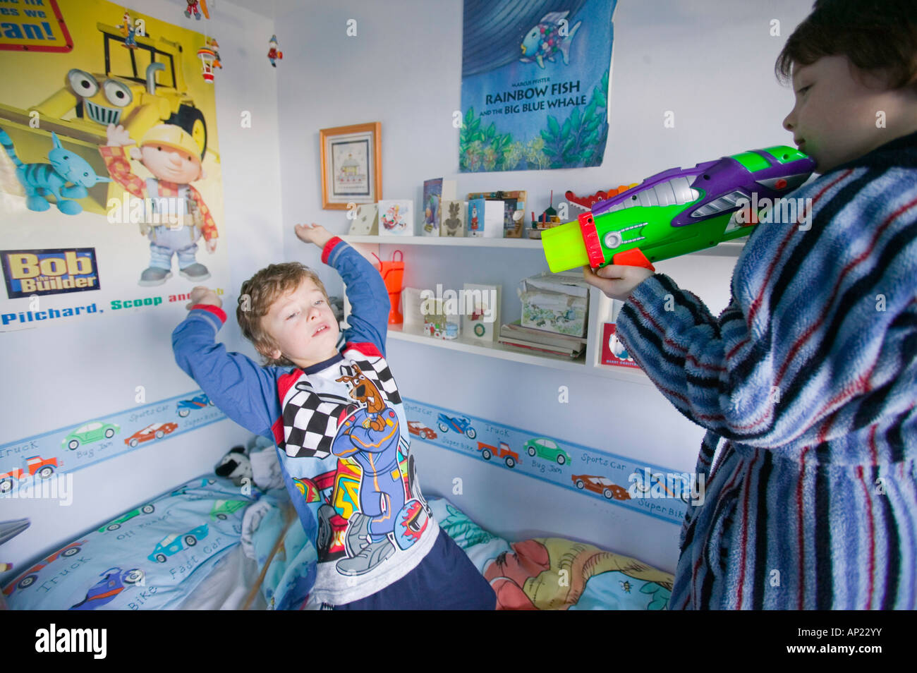 play fighting bedroom stock photos & play fighting bedroom stock