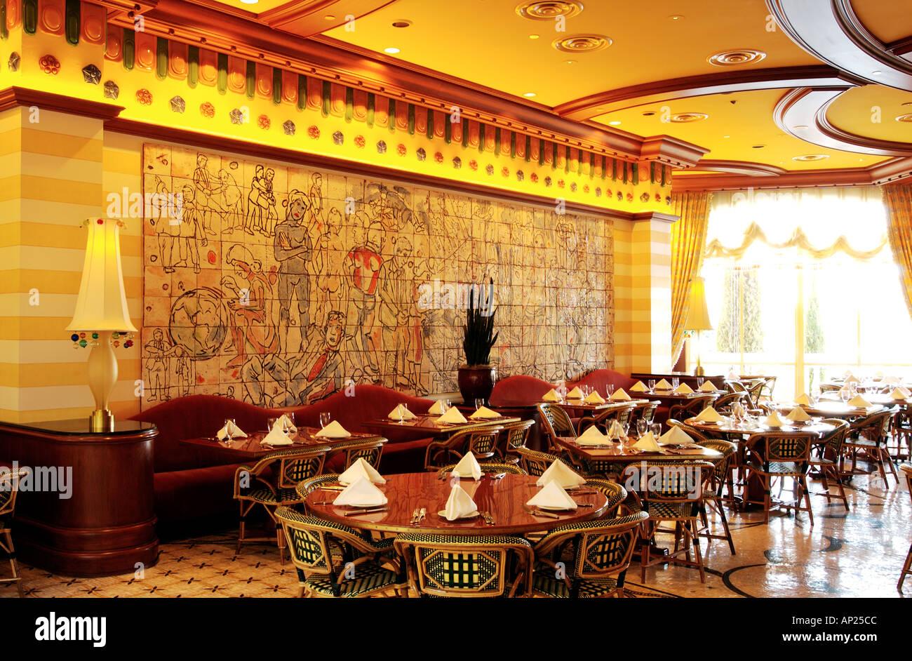 Restaurant Inside Bellagio Hotel Las Vegas Stock Photo 1451467 Alamy