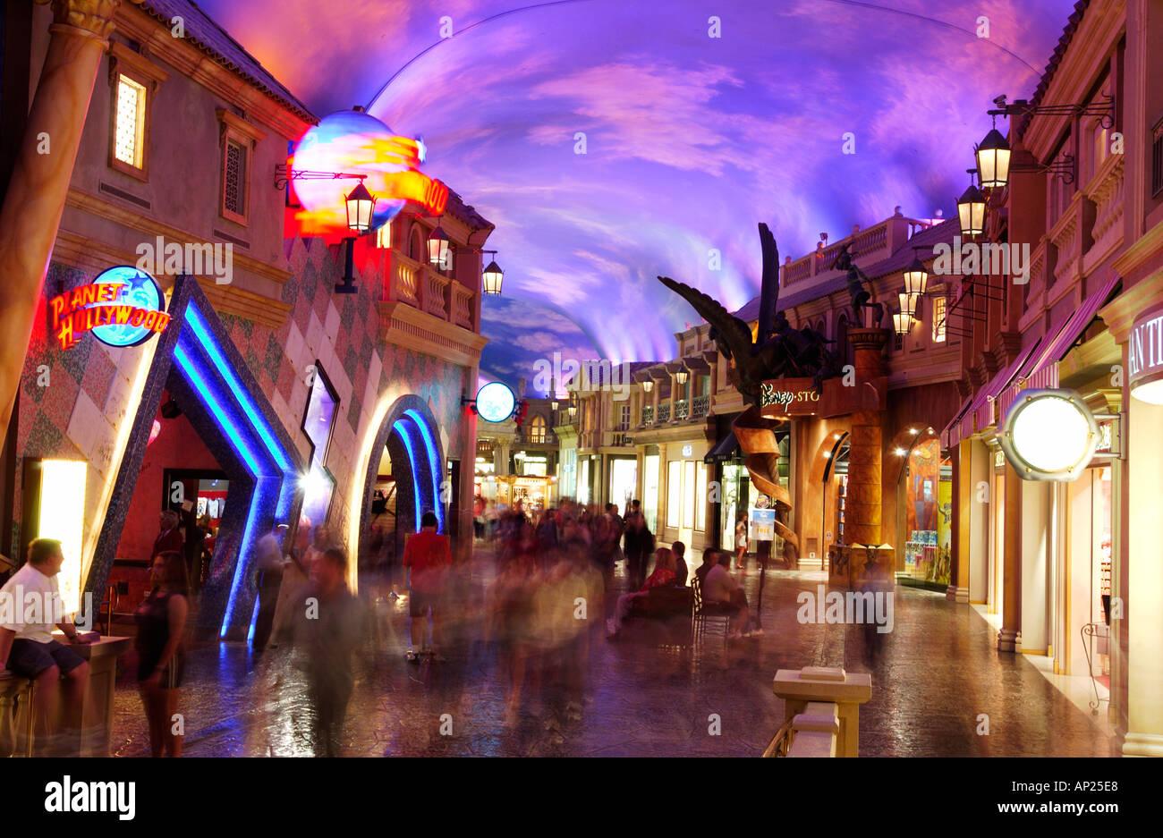 Forum Shops at Caesars Palace Las Vegas - Stock Image